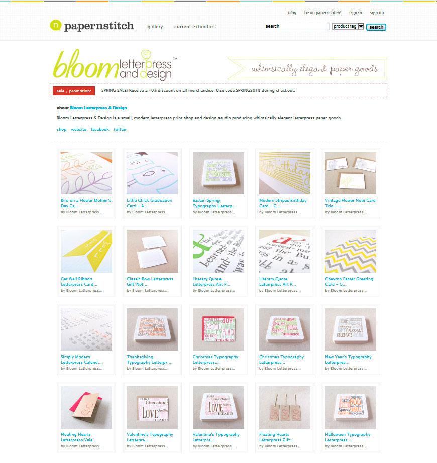 Papernstitch | Bloom Letterpress & Design