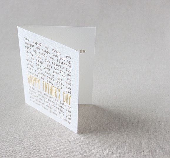 Father's Day Cards | Crap Happy Father's Day Card