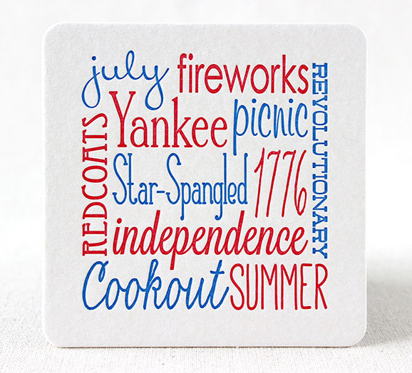 4th of July Party Ideas | 4th of July Holiday Coasters