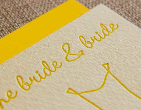 Lesbian Wedding Card | For the Bride & Bride
