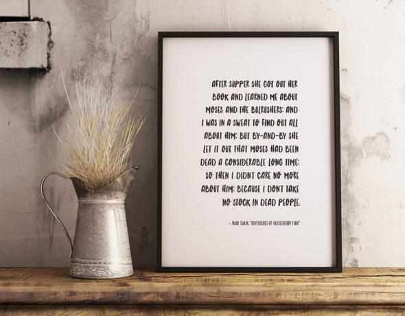 Mark Twain Literary Art Print