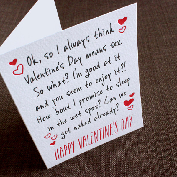 Funny Valentine s Day Cards It s All About SexFunny Valentines Day Cards For Him