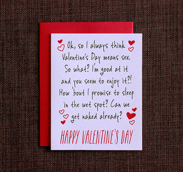 Funny Valentines Day Cards | It's All About Sex Valentine's Day Card