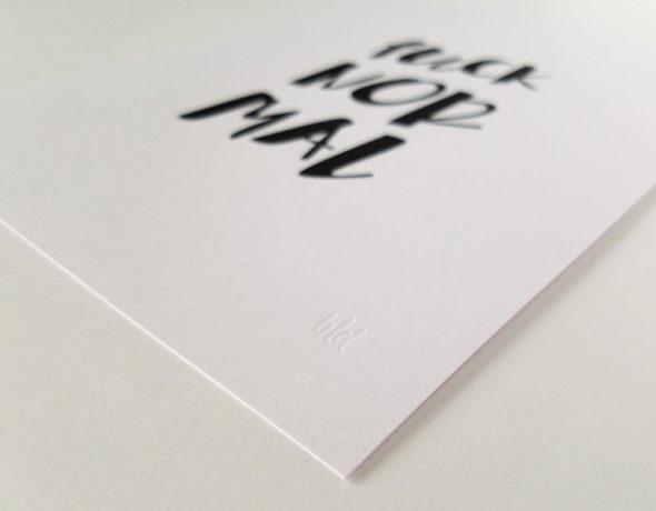Typography Art Print