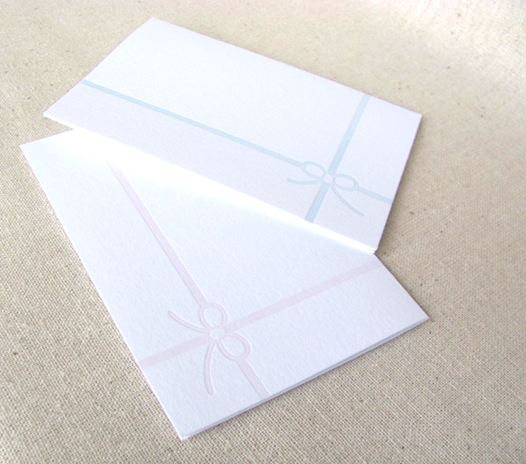 Classic Bow Note Cards