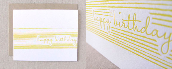 Modern Stripes Birthday Card