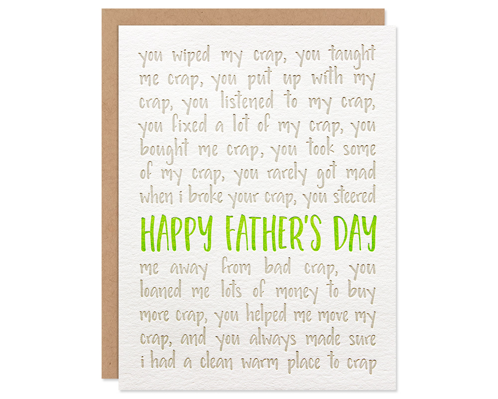 Funny Fathers Day Card Crap Happy Fathers Day Card Bloom