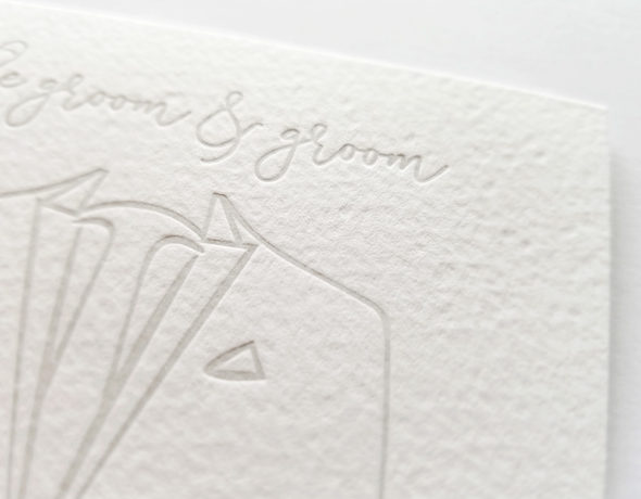 Gay Wedding Card | For the Groom & Groom Wedding Card