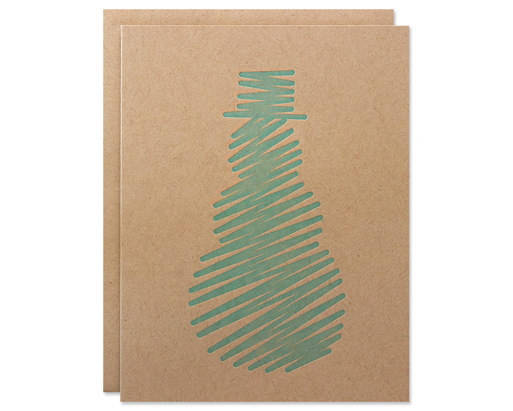 Holiday Cards | Abstract Snowman Card Boxed Set | Bloom Letterpress ...
