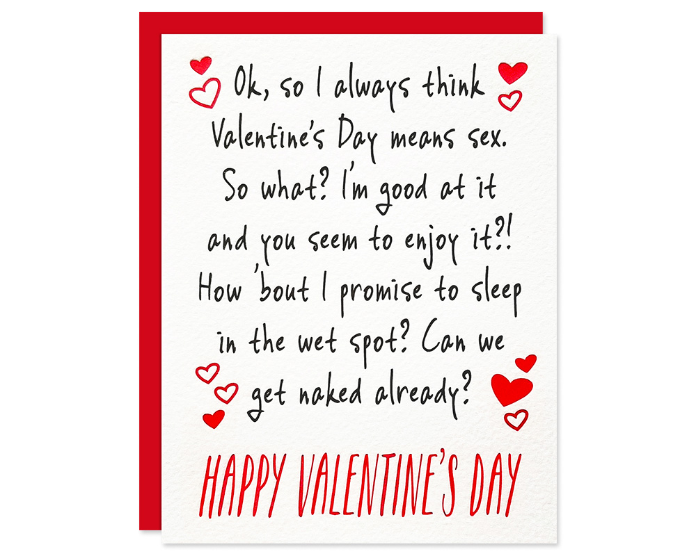 Funny Valentines Day Card It S All About Sex Card Bloom