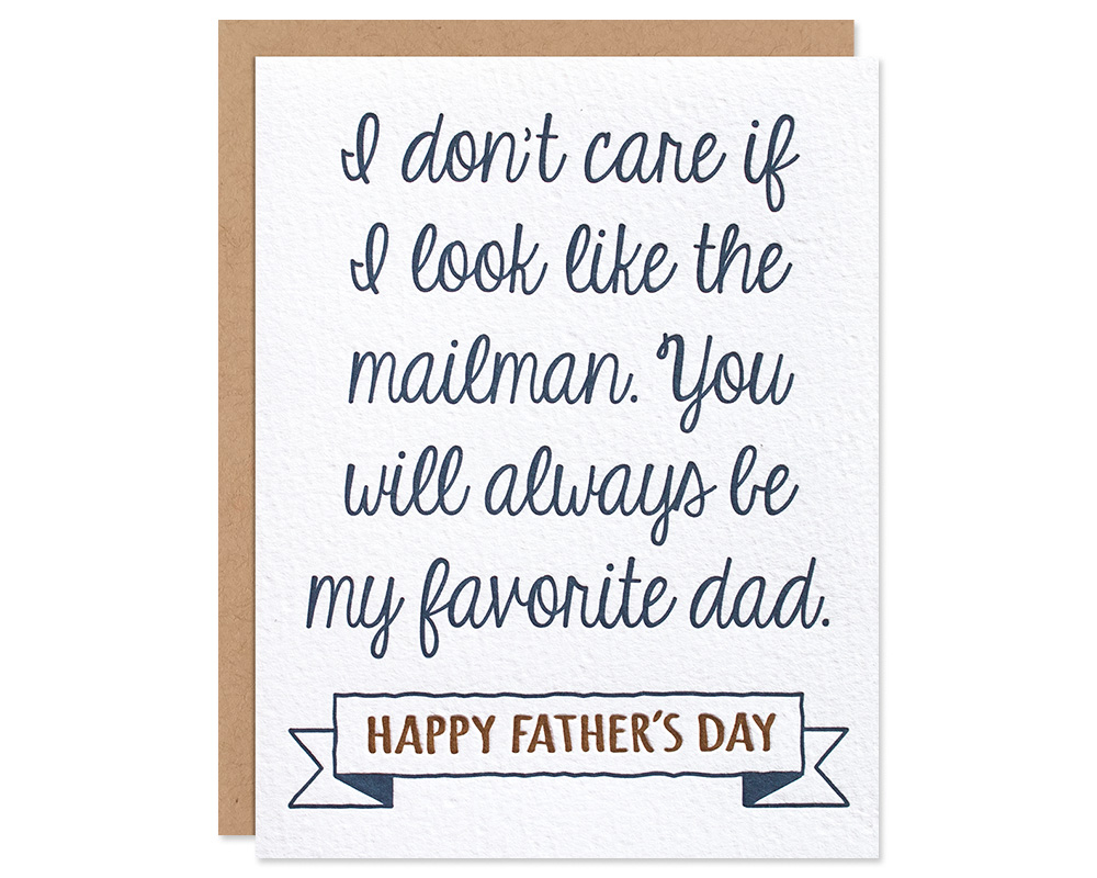 Step Dad Happy Fathers Day Card Favorite Dad Fathers Day Card