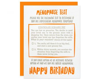 Funny Menopause Birthday Card