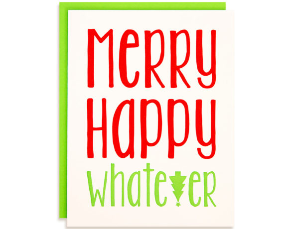 Funny Christmas Cards | Merry Happy Whatever Boxed Set