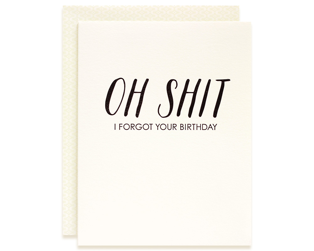 Happy Belated Birthday | Oh Shit Belated Birthday Card | Bloom